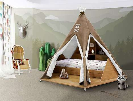 Imaginative Wilderness Tent Beds - This Teepee Bed for Kids is Inspired by Pocahontas