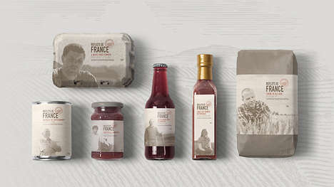Culinary Heritage Food Branding - The Reflets de France Packaging Features Photos of Farmers