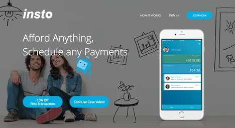 Person-to-Person Payment Platforms - The INSTO App Sets Up Scheduled Payments Between Individuals