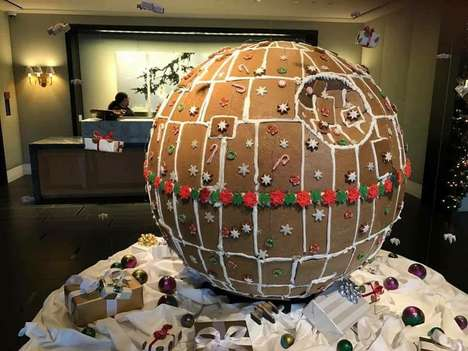 Sci-Fi Gingerbread Treats - This Epic Gingerbread Death Star is a Rebellious Holiday Dessert