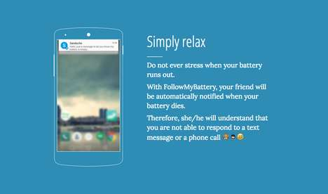 Battery Death-Alerting Apps - The Follow My Battery App Notifies Your Friends When Your Phone Dies