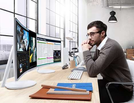 Image-Perfecting Monitors - The Samsung Quantum Dot Curved Monitor Offers Total Color Coverage
