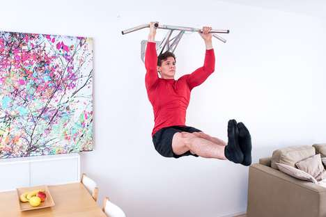 Total Body Workout Equipment - This Portable Pullup Dip Bar Can be Installed and Used Inside or Out