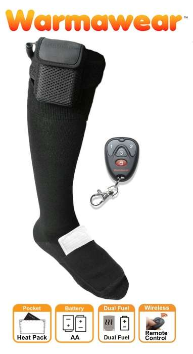 Battery-Powered Warm Socks - The Warmawear Heated Socks Come with a Remote Control