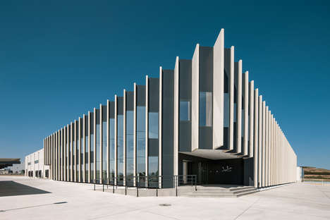 Massive Louvred Facades - The New JATA Facility Features Tall Slats on Its Facade