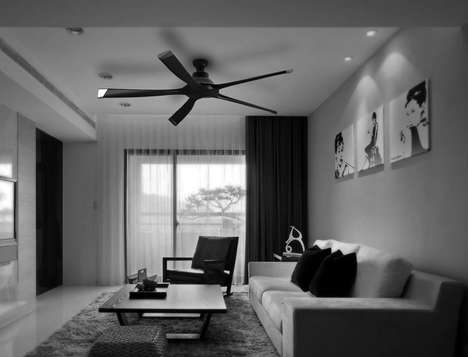 Smartphone-Controlled Ceiling Fans - The Audi Airy Fan for the Ceiling is Inherently Chic in Design