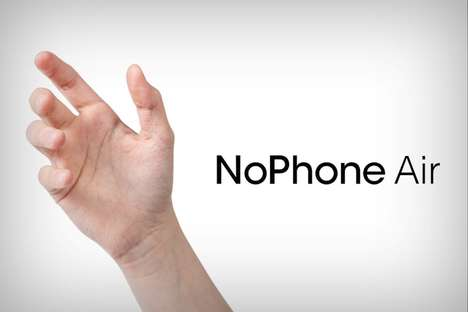 Imaginary Smartphone Designs - The 'NoPhone Air' Pokes Fun at Smartphone Releases