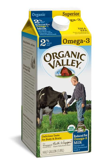 Omega-3 Whole Milks - These Organic Valley Milks Contain Fatty Acids to Enhance Health