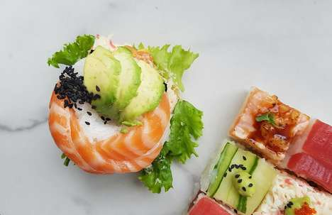 Artistic Sushi Shops - Toronto's 'Square Fish' Serves Up Colorful Mosaic-Style Sushi Dishes