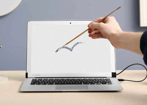 Touchscreen Laptop Add-Ons - The 'AirBar' Touchscreen Sensor for MacBook Air Adds Functionality