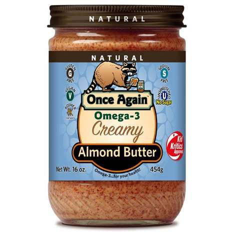 Dry Roasted Almond Butters - This Smooth Nut Butter is Made With Flax Seed Oil