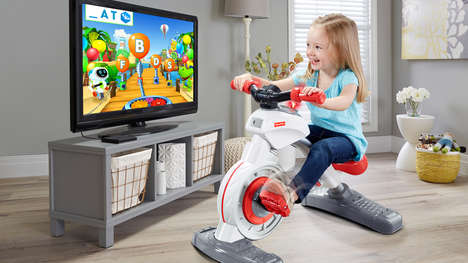 Children's Stationary Bike Toys - Fisher-Price's Think & Learn Smart Cycle Helps Kids Stay Active