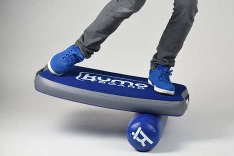 Inflatable Balancing Boards - The 'Kumo Board' is Inflatable and Ready for Travel