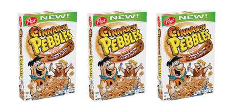 Spiced Seasonal Breakfast Cereals - The New Post Cinnamon Pebbles is Great Alone or in Recipes