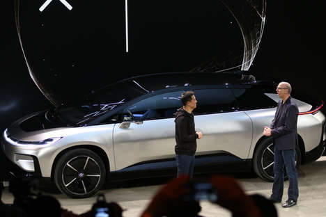 Smartphone-Connected Cars - Faraday Future Shows Off Its Electric FF 91 Model During CES 2017