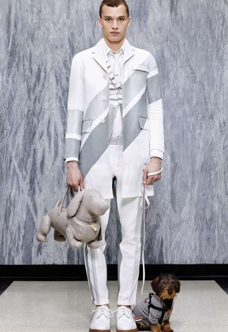 Dachshund-Heavy Lookbooks - The New Thom Browne Collection Features the Designer's Dog Hector