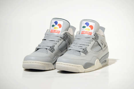 Video Game-Themed Sneakers - The New Super Nintendo Shoes from Air Jordan Emulate a Controller