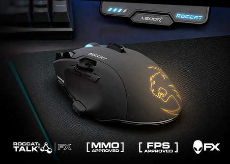 Lag-Free Gaming Mice - The Roccat Leadr Wireless Gaming Mouse is Launching at CES 2017