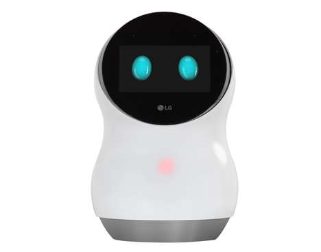 Home Assistant Robots - The LG Hub Robot Performs a Series of Smart Home Controls at CES 2017