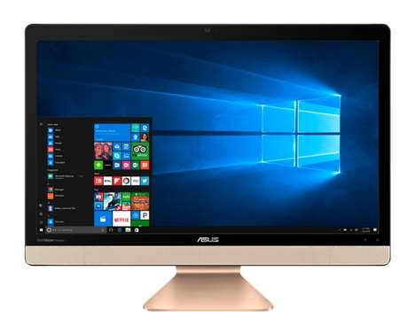 Aluminum Unibody PCs - The Asus Zen Aio and Vivo AiO All-in-One PCs Elegantly Debut at CES 2017