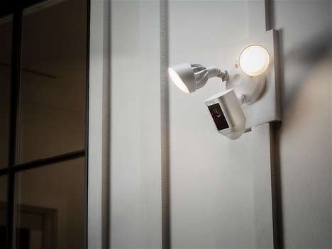 Exterior Security Camera Lights - The Ring Security Floodlight Camera Illuminates, Records and More