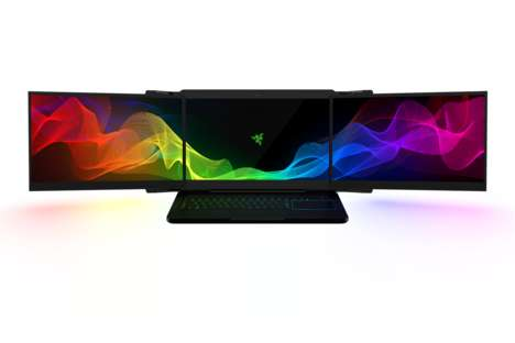 Triptych Laptop Screens - Razer's Three-Screened 'Project Valerie' is Debuting at CES 2017