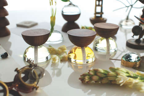 Sculptural Wood Perfume Bottles - Xinu's Perfume Bottles Offer Unique and Dynamic Shapes