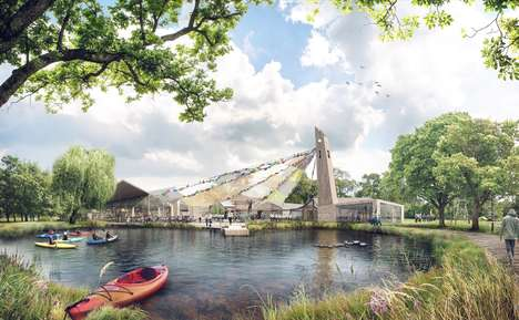 Carnival-Inspired Museum Designs - Tate Harmer's 'Big Tent' Will House London's Museum of Scouting