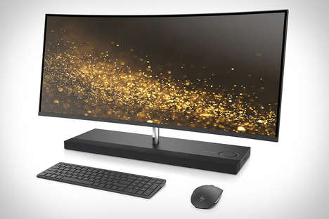 Immersive Ultra HD Desktops - The HP Envy Curved AIO 34 Desktop Showed Off Style at CES 2017