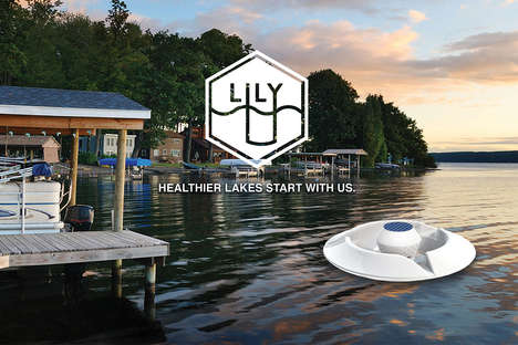 Solar-Powered Lake Purifiers - 'Lily the Lake Purifier' is a Mercury Filter and Uses Synthetic Coral