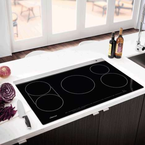 Precision Safety Cooktops - The Dacor Discovery TouchTop Induction Cooktops are Sleek and Safe