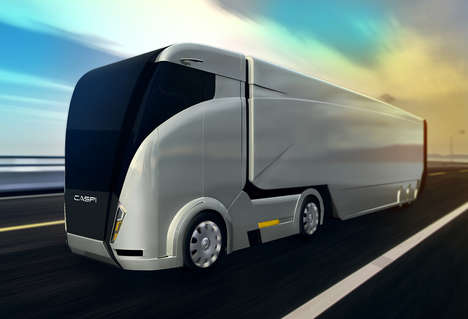 Aerodynamic Shipping Trucks - The 'CASPI' Truck is Focused on Fuel Efficiency and Speed
