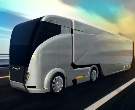 Aerodynamic Shipping Trucks