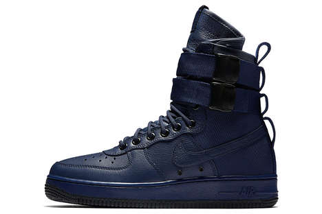 "Feminine Indigo High-Tops - The New Nike SF-AF1 in ""Binary Blue"" is Now Available in Women's Sizes"