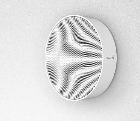 Smart Security Sirens - The Netatmo Indoor Security Siren Has Several Programmable Options
