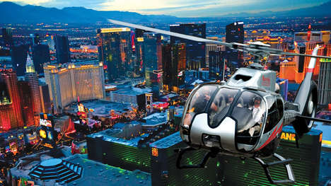 Helicopter-Sharing App Promos - UberCHOPPER Is a Limited Time Service Available at CES 2017