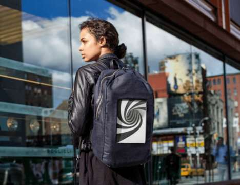 Digital Screen Backpacks - The 'POP-I' ePaper Tech Backpack Displays Whatever Image is Desired