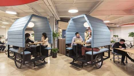 Adaptable Modular Offices - People's Industrial Design Created the Office for the Brand Sliced House