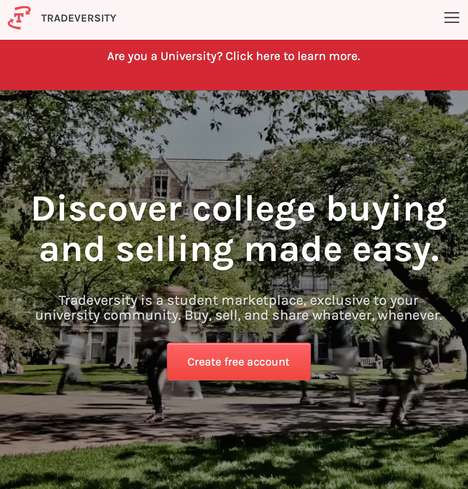 College Student Marketplaces - 'Tradeversity' Markets to Students to Sell Items to Cover Expenses