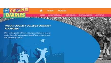 Branded College Network Platforms - Dell MTV Campus Diaries Showcases Talent to Connect Students