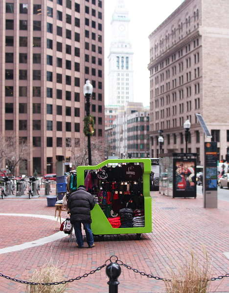 Mobile Retail Vending Carts - This Cart is Functional and Designed to Revitalize City Appearances
