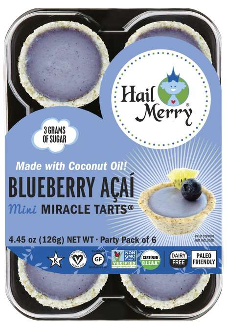 Bite-Sized Purple Tarts - Hail Merry's Mini Miracle Tarts Now Come in a Blueberry and Açaí Flavor
