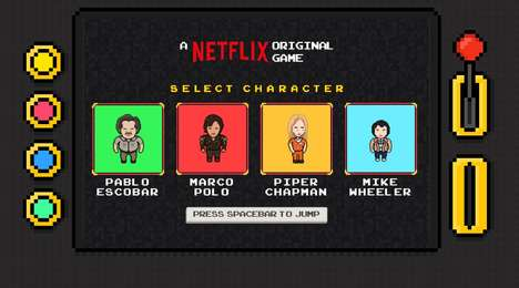 TV-Themed Browser Games - 'Netflix Infinite Runner' Features Characters from Popular Netflix Series