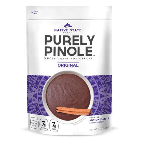 Purple-Hued Porridges - 'Purely Pinole' is a Healthy Hot Cereal Made from Purple Maize
