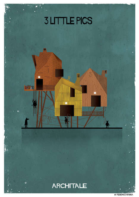 Architectural Fairy Tale Posters - 'ARCHITALE' Features Ideal Architecture for Fairy Tale Heroes