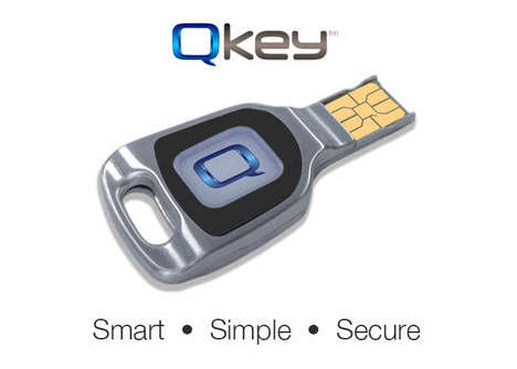 Secure Login USB Keys - The 'QKey' USB Keys Keep Passwords and Other Data Secure