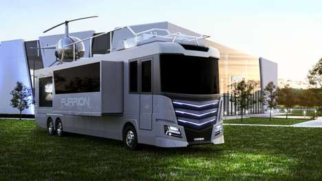Helicopter-Equipped RVs - The Furrion Elysium RV Showed Off a Luxury Design at CES 2017