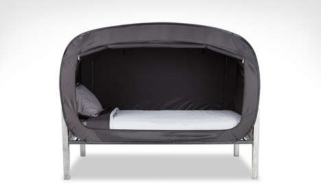 Protective Tent Beds - The Privacy Pop Bug Tent Protects Sleepers from Insects at Night