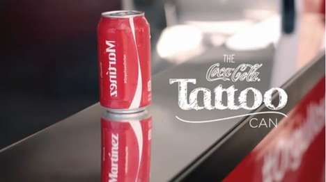 Surname-Tattooing Soda Cans - Coke's 'Tattoo Can' Campaign Celebrated Hispanic History Month