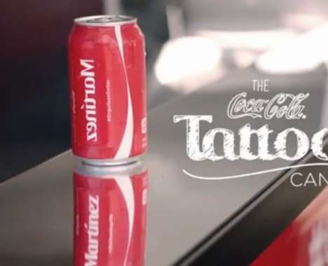 Surname-Tattooing Soda Cans